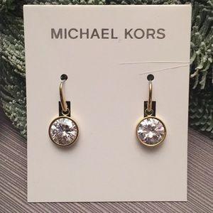 MICHAEL KORS BRILLIANCE CRYSTAL GOLD EARRINGS